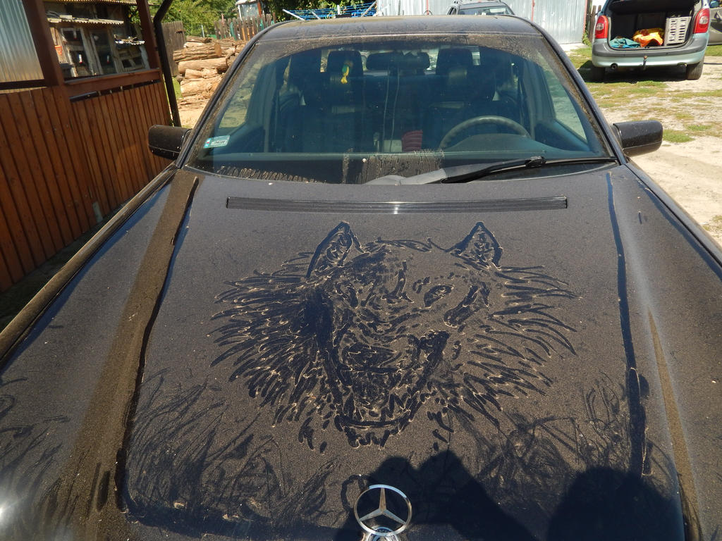 The black car color will show the dirt and scratches clearly