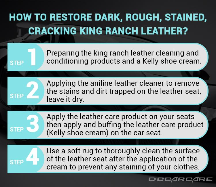 4 steps to clean king ranch leather car seat