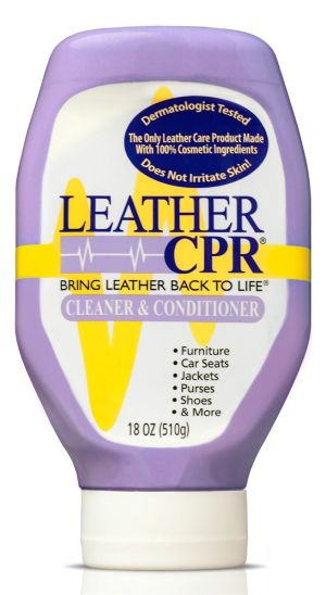 Leather CPR Cleaner & Conditioner Restores & Protects Leather Car Seats