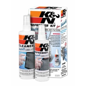 K&N Cabin Air Filter Cleaning Kit: Spray Bottle Filter Cleaner and Refresher Kit