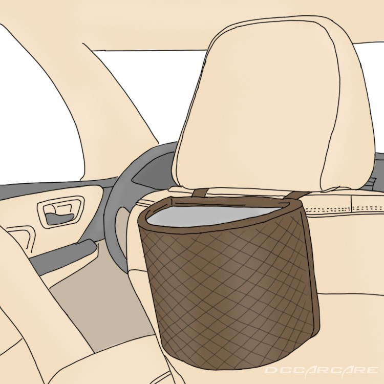 Use a garbage bag or container to keep car clean.