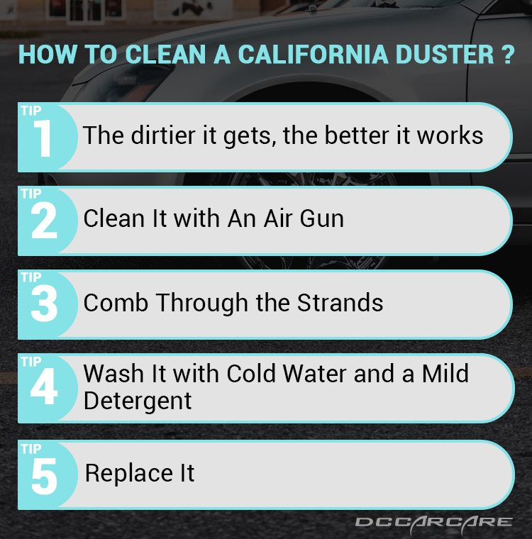 How to clean a california duster